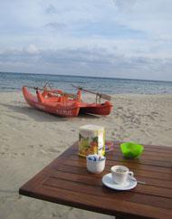 Am Strand von Laigueglia