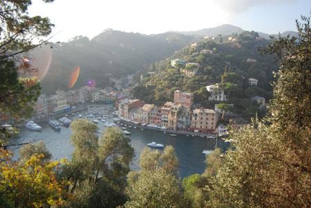 Portofino-Ansicht von oben