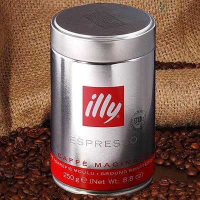 illy Espresso gemahlen