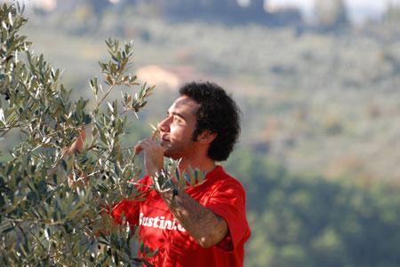 Aldo half auch hier bei der Ernte.