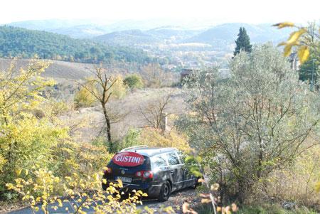 Mit dem Gustini-Mobil auf dem Weg zu Marco Calamai
