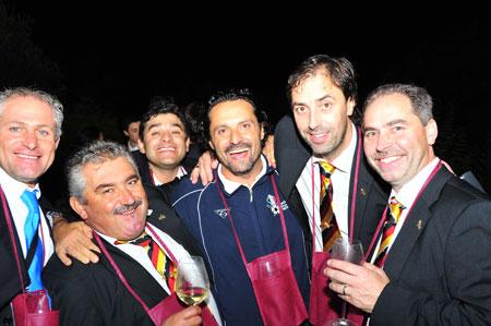 Nach dem Spiel gab es Wein von Russiz Superiore