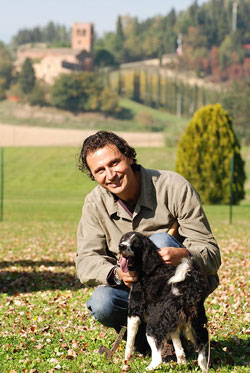 Riccardo Nacci mit Hund