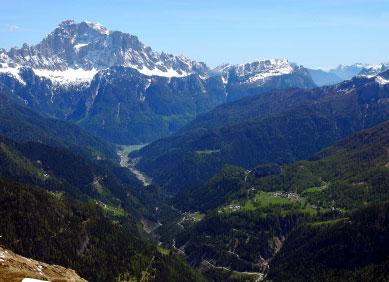 Berge im Norden des Piemont