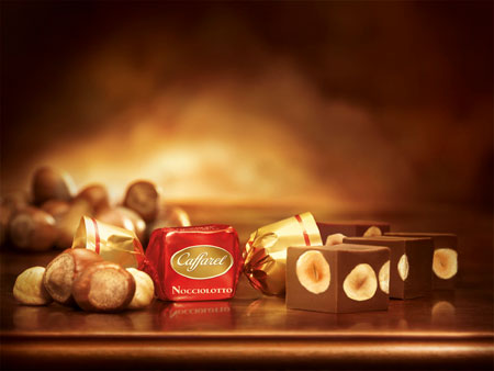 Langhe-Haselnüsse in Caffarel-Schokolade