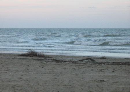 Der Strand in Rimini - im Winter nicht ganz so überfüllt.