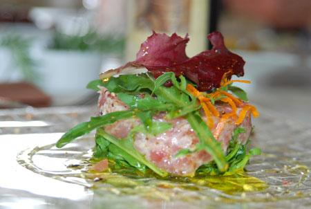 Wir aßen das Cetrone-Öl zu frischem Fisch