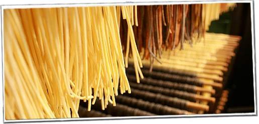 Trocknende Spaghetti