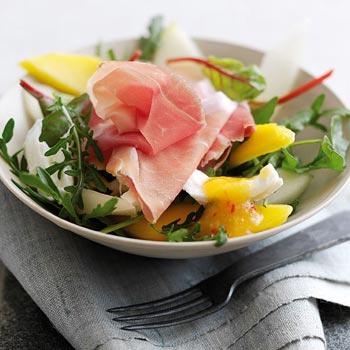 Parmaschinken-Melonen-Salat