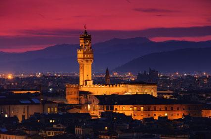 Abendstimmung über Florenz