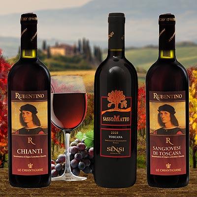 Probierpaket Rotweine aus der Toskana