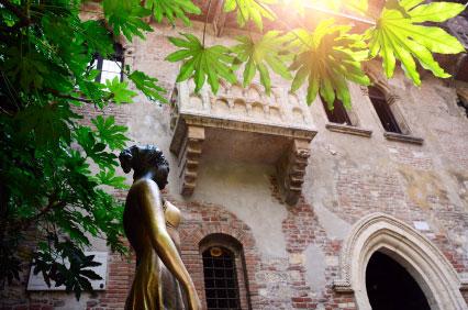 Der brühmte Balkon aus <em>Romeo und Julia</em>