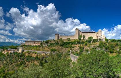 Die Albornoz-Burg über Spoleto