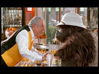 Der Gorilla und Dino, der Barkeeper