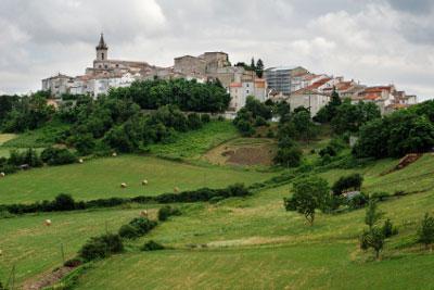 Der Bergort Montagno in Molise