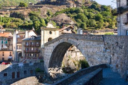 Die römische Brücke in Pont Saint Martin