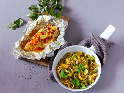 tagliatelle zucchini hähnchenfleisch