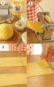 Tortellini selber machen - den Teig ausrollen