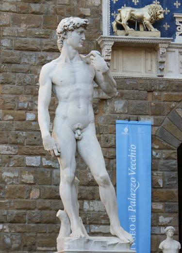 David - Die berühmte Statue von Michelangelo