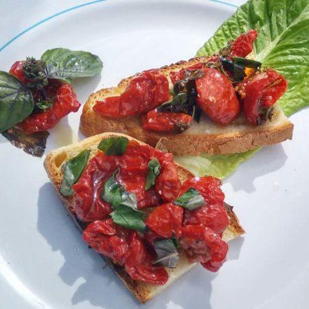 Bruschetta alle Pomodori essiccati al Sole