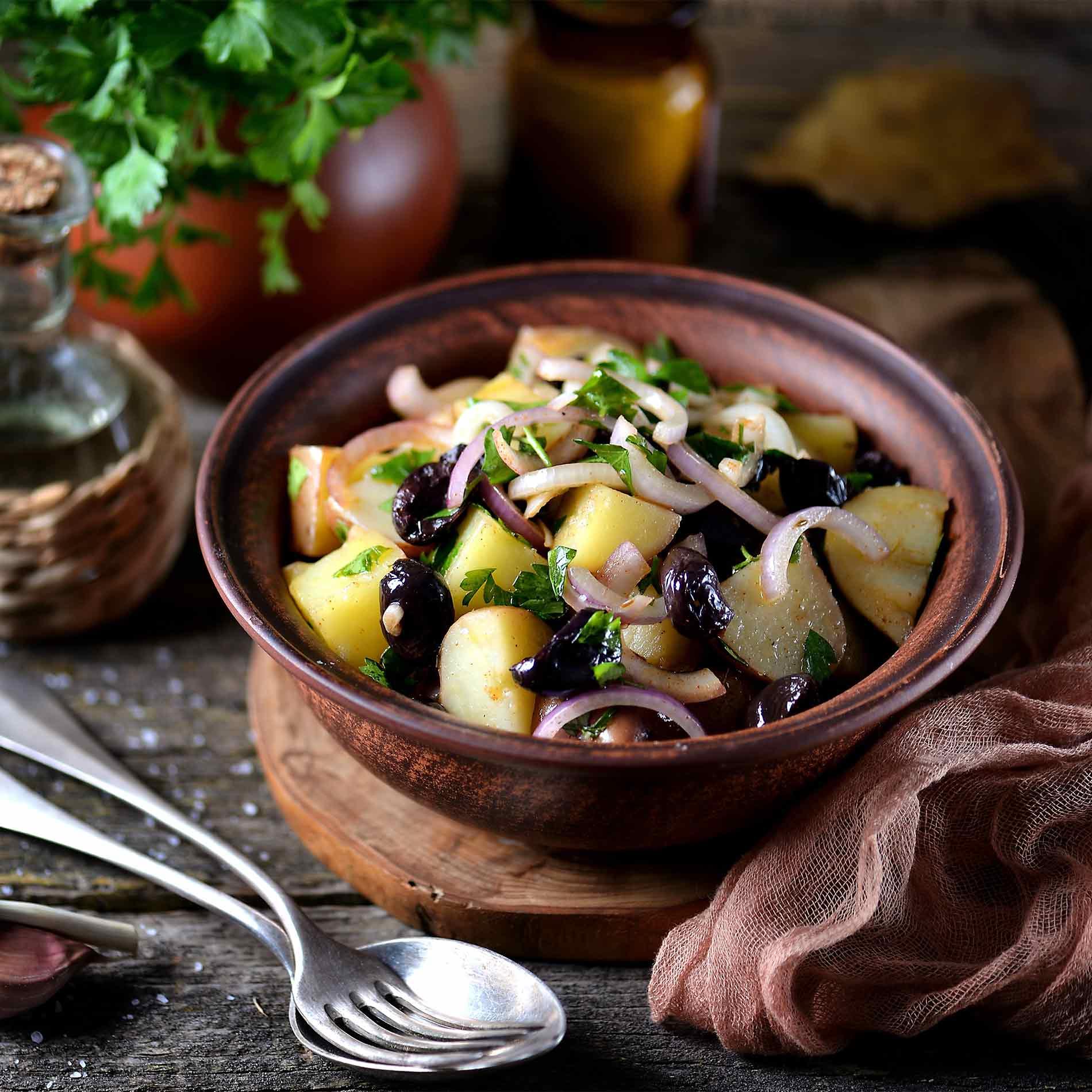 Mediterraner Kartoffelsalat – Rezept