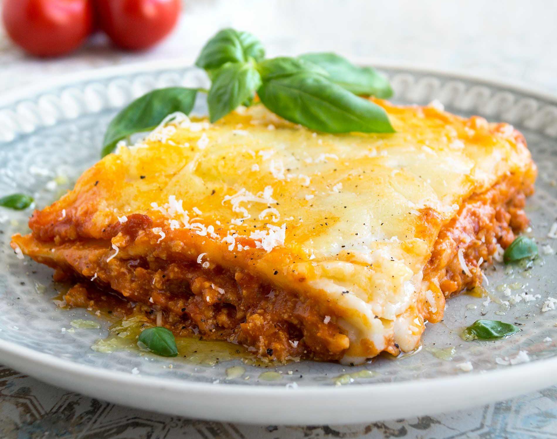 Ein Stück Lasagne