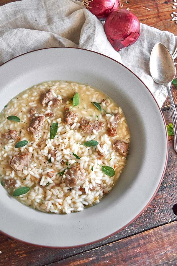 salsiccia risotto