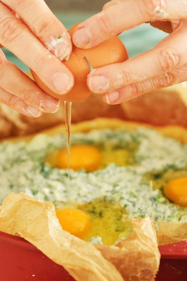 Torta Pasqualina füllen