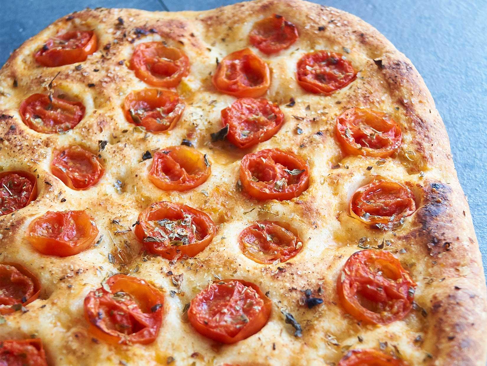Focaccia mit Tomaten – italienisches Rezept