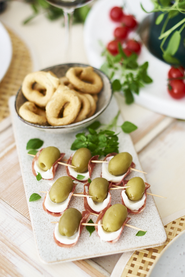 Fingerfood Spieße mit Oliven