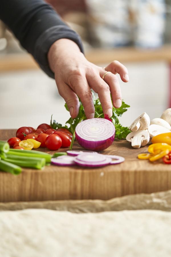 Gemüse für Garden Focaccia