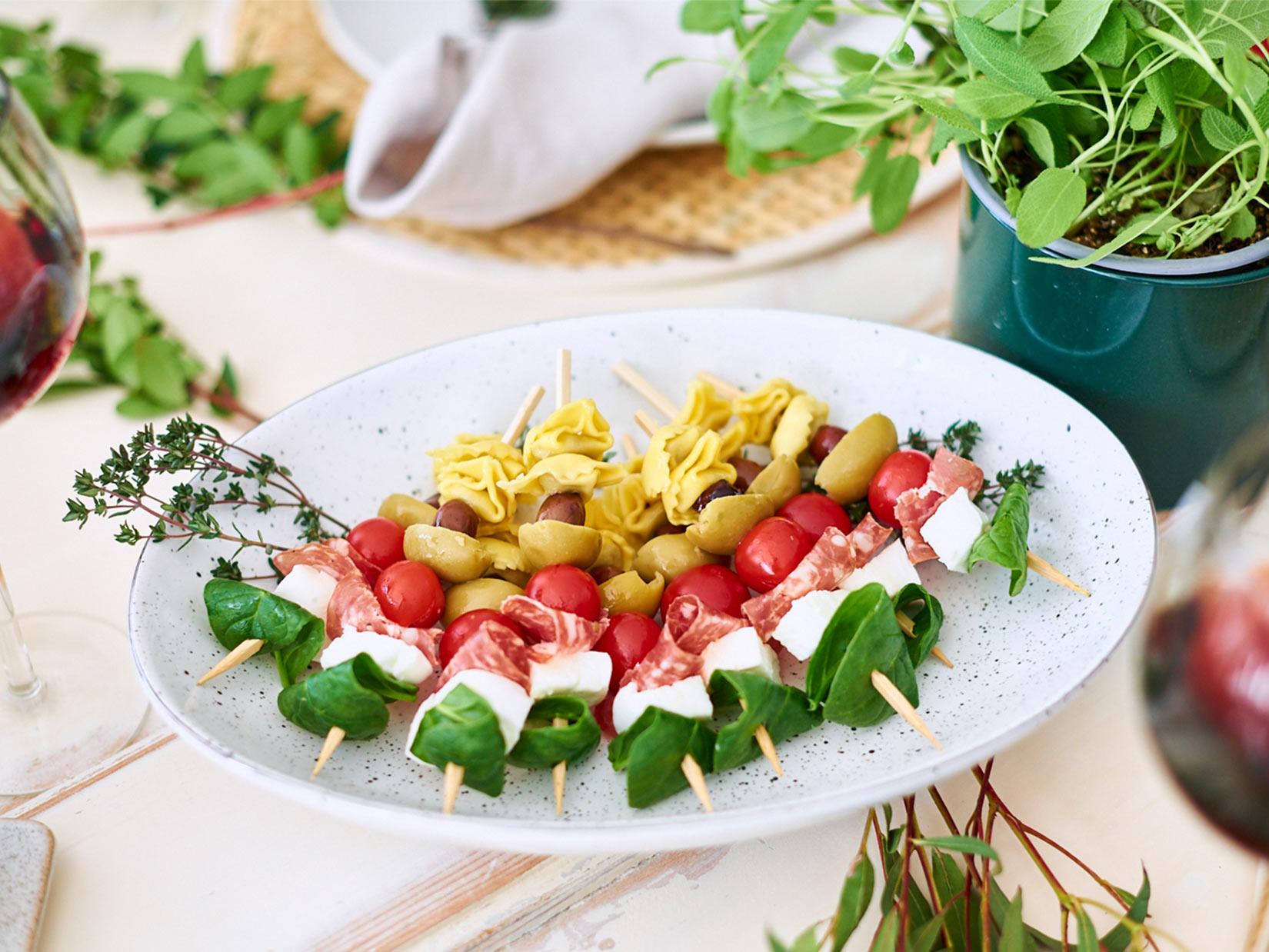 Fingerfood Spieße – italienische Rezepte
