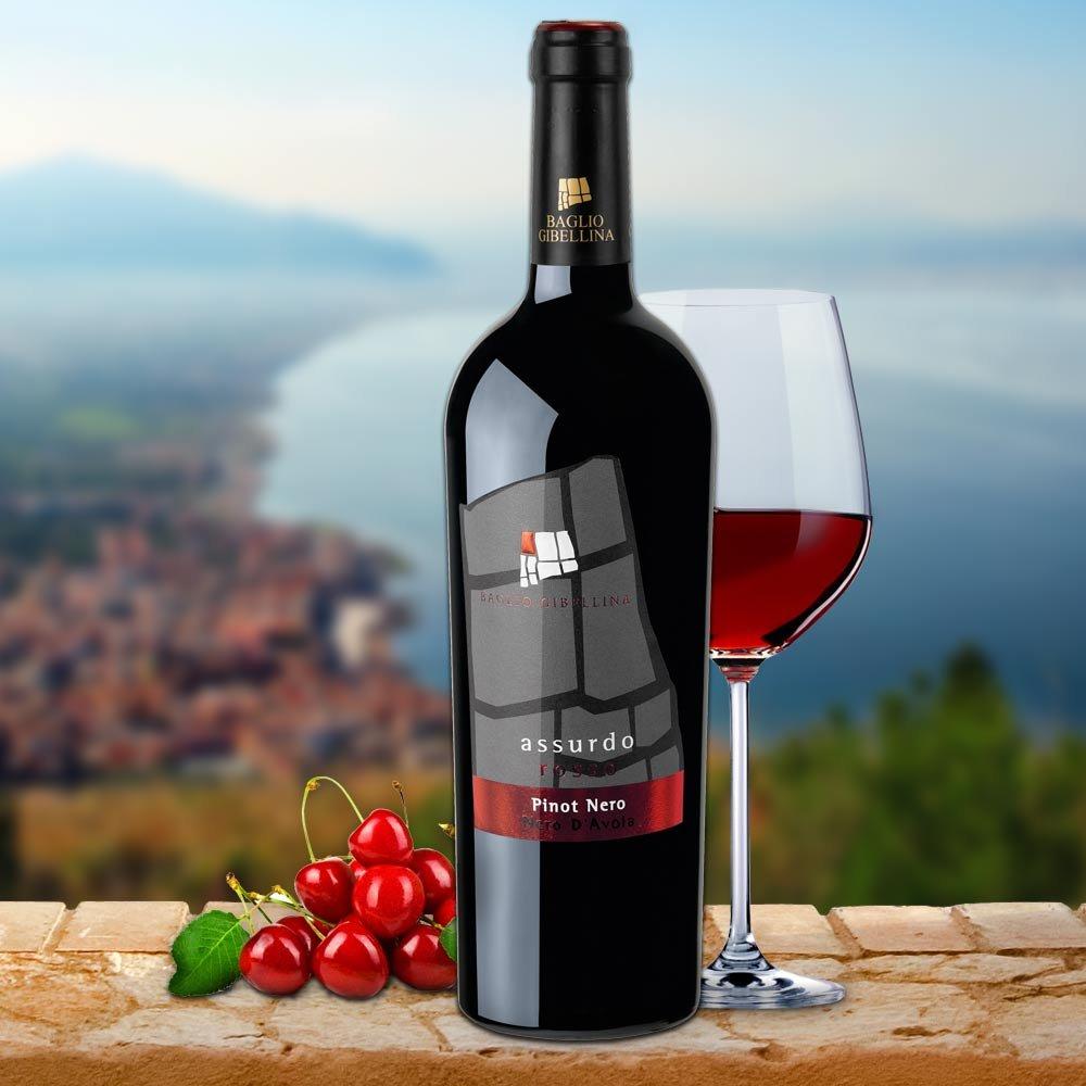Assurdo Pinot Nero und  Nero d Avola Baglio Gibellina Rotwein des Jahres 2014