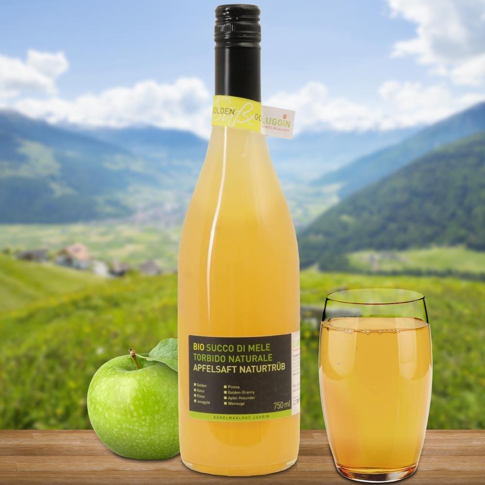 Sortenreiner Bio Apfelsaft naturtr�b S�dtirol Kandlwaalhof Golden Delicious