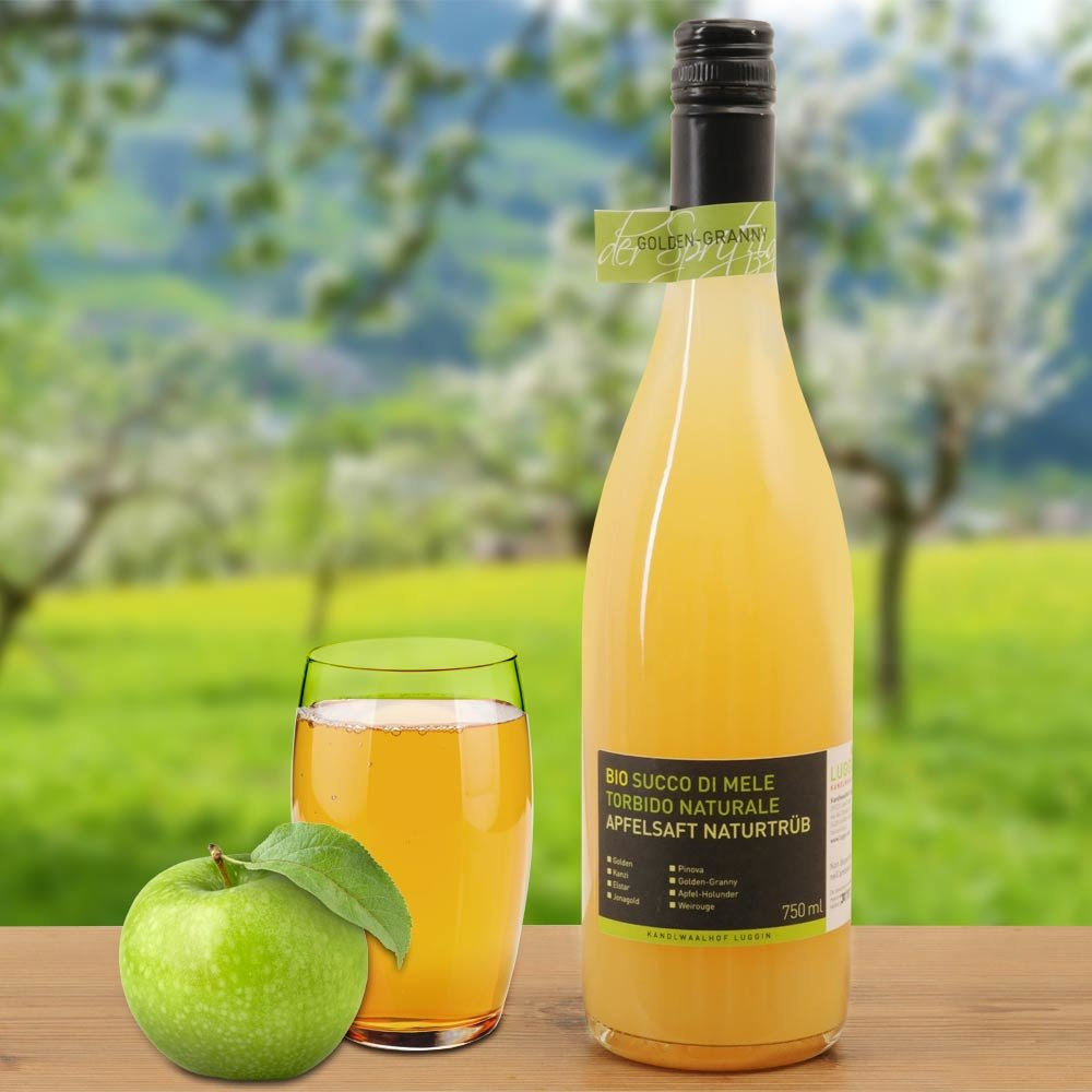 Apfelsaft Bio naturtr�b aus S�dtirol Golden Delicious Granny Smith