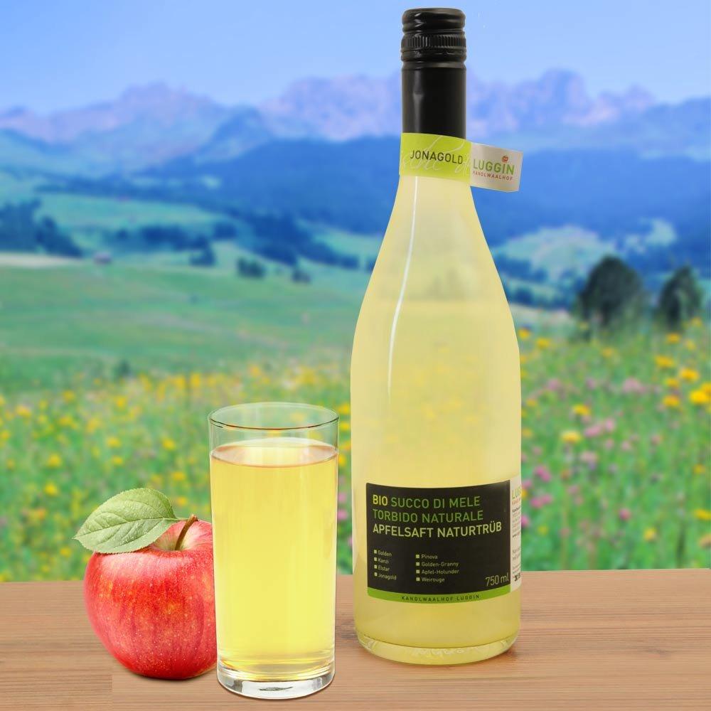Jonagold sortenreiner Apfelsaft naturtrüb Südtirol Kandlwaalhof