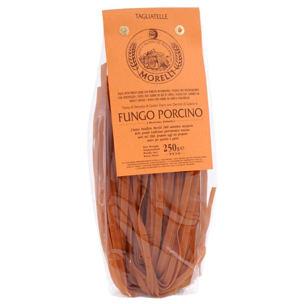 Tagliatelle Funghi Porcini  Bandnudeln mit Steinpilzen Morelli 250 g
