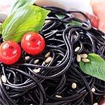 schwarze Spaghetti Tintenfisch al Nero di Seppia