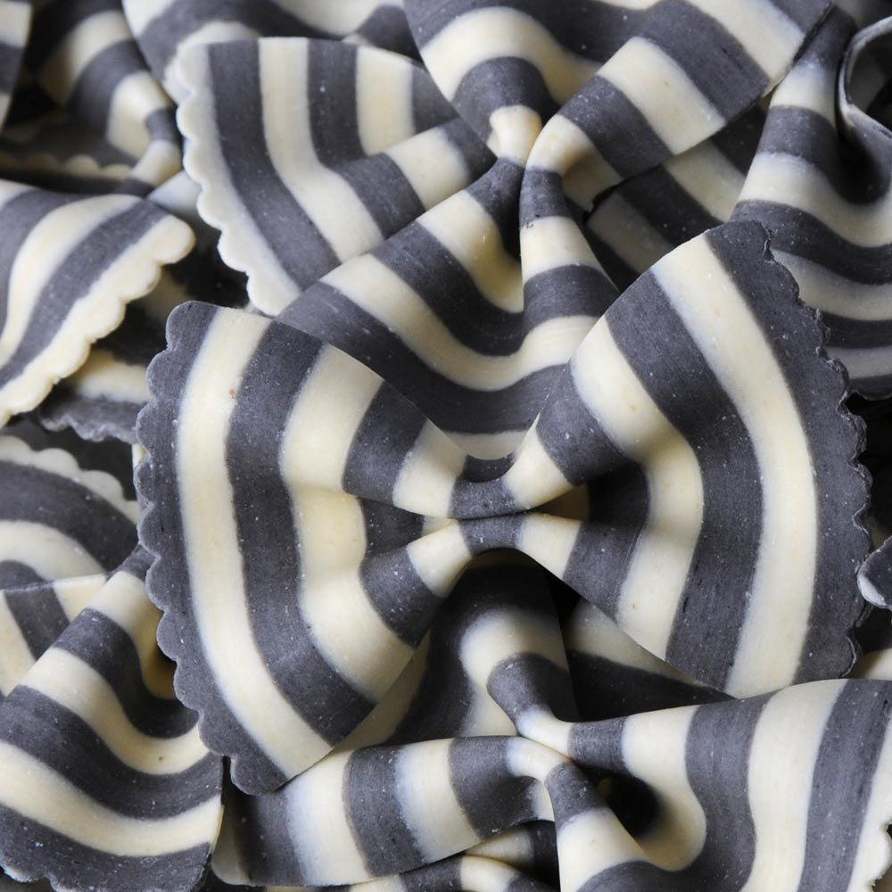 Farfalle Schmetterlingsnudeln Zebra schwarz weiss Marella