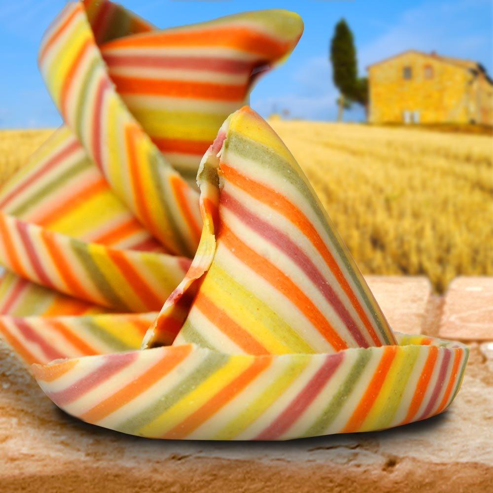 handgemachte bunte Sombreroni Nudeln Pastificio Marella Apulien