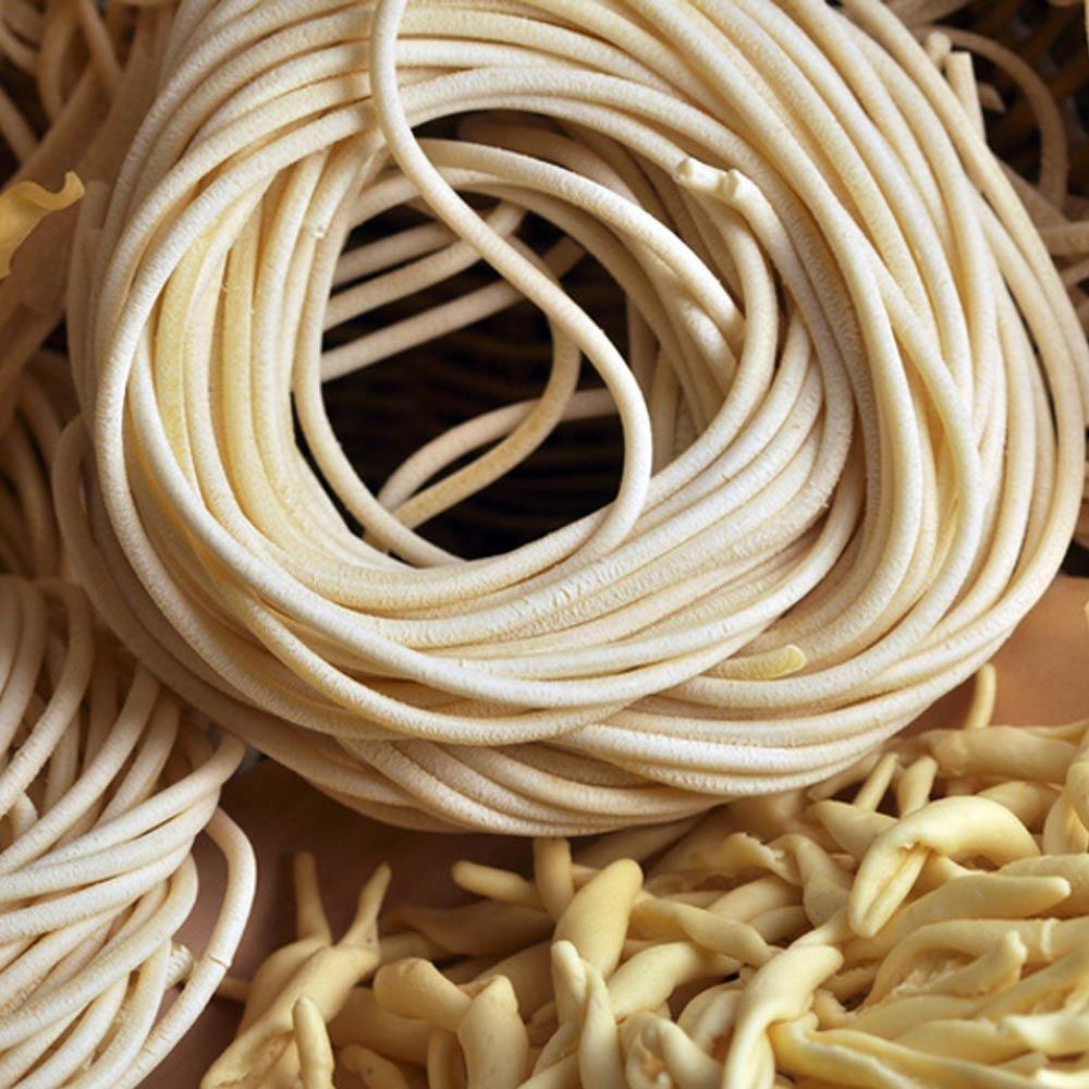 Pici di Toscana toskanische Nudeln dicke Spaghetti Morelli