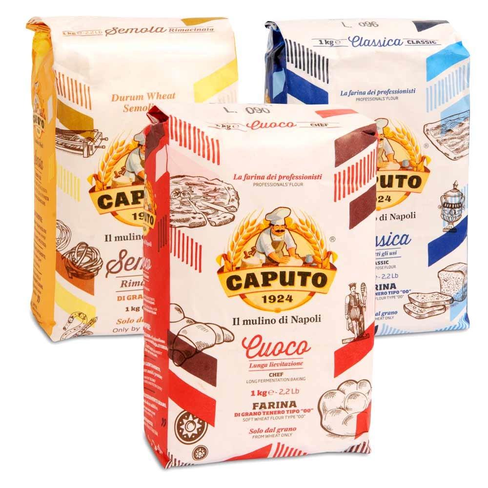 Molino Caputo Probierpaket 3 verschiedene Mehle f�r Pizza und Pasta