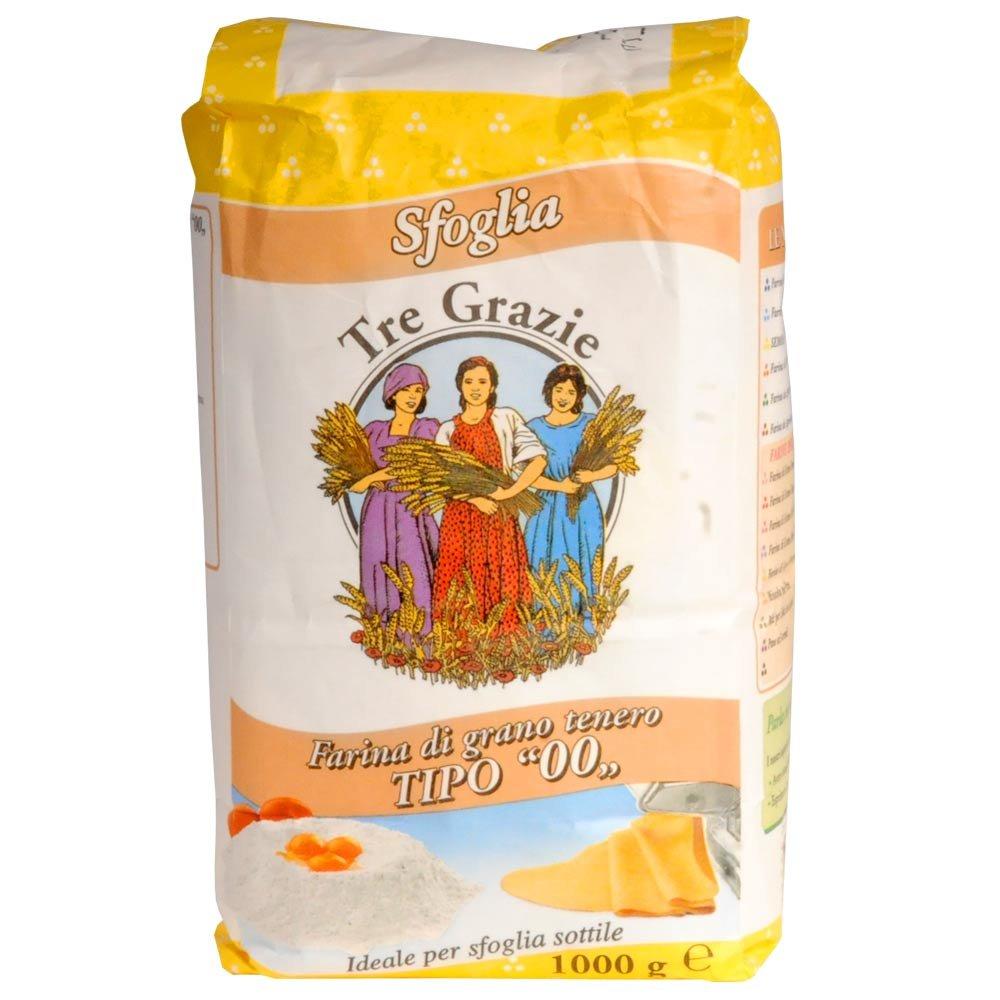Farina tipo 00 per sfoglia Tre Grazie 1kg Weizenmehl f�r Pasta