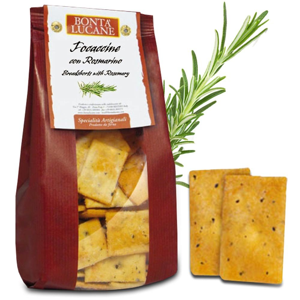 Cracker mit Rosmarin Bonta Lucane Focaccine al rosmarino