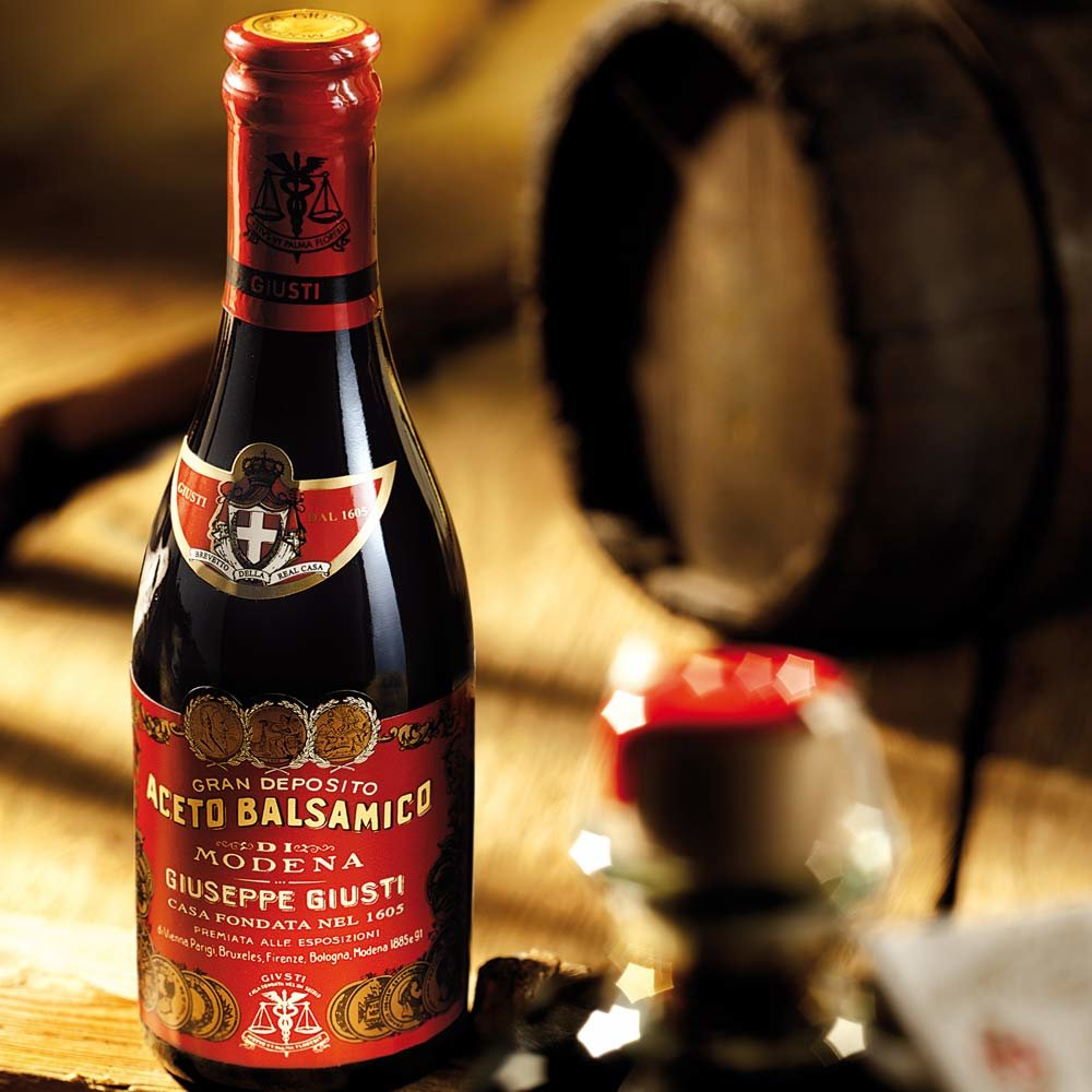6 Flaschen Vorteilspaket Il Denso Aceto Balsamico Giuseppe Giusti - 3 Goldmedaillen - 10 Jahre gelagert Riccardo Giusti
