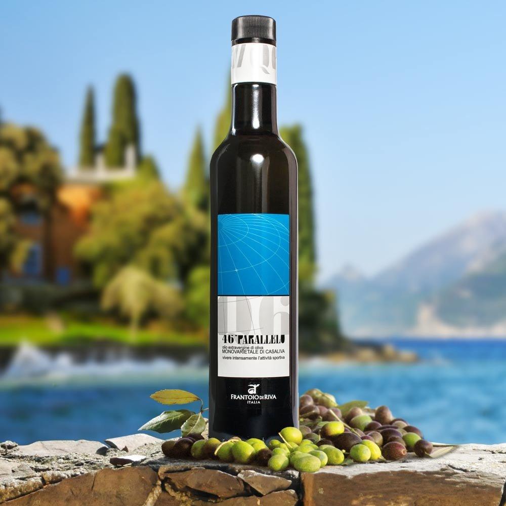 Agraria Riva del Garda 46 Parallelo Monovarietale di Casaliva Oliven�l Olio Award Testsieger mildfruchtig Gardasee