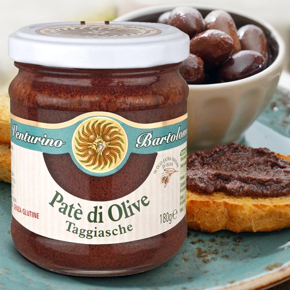 Pate aus Taggiascha Oliven Venturino Pate di Olive Taggiasche