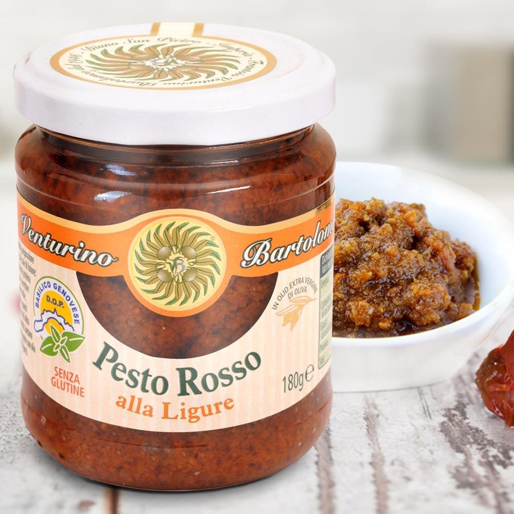 Pesto Rosso Rotes Pesto mit Tomate Basilikum Venturino Frantoio