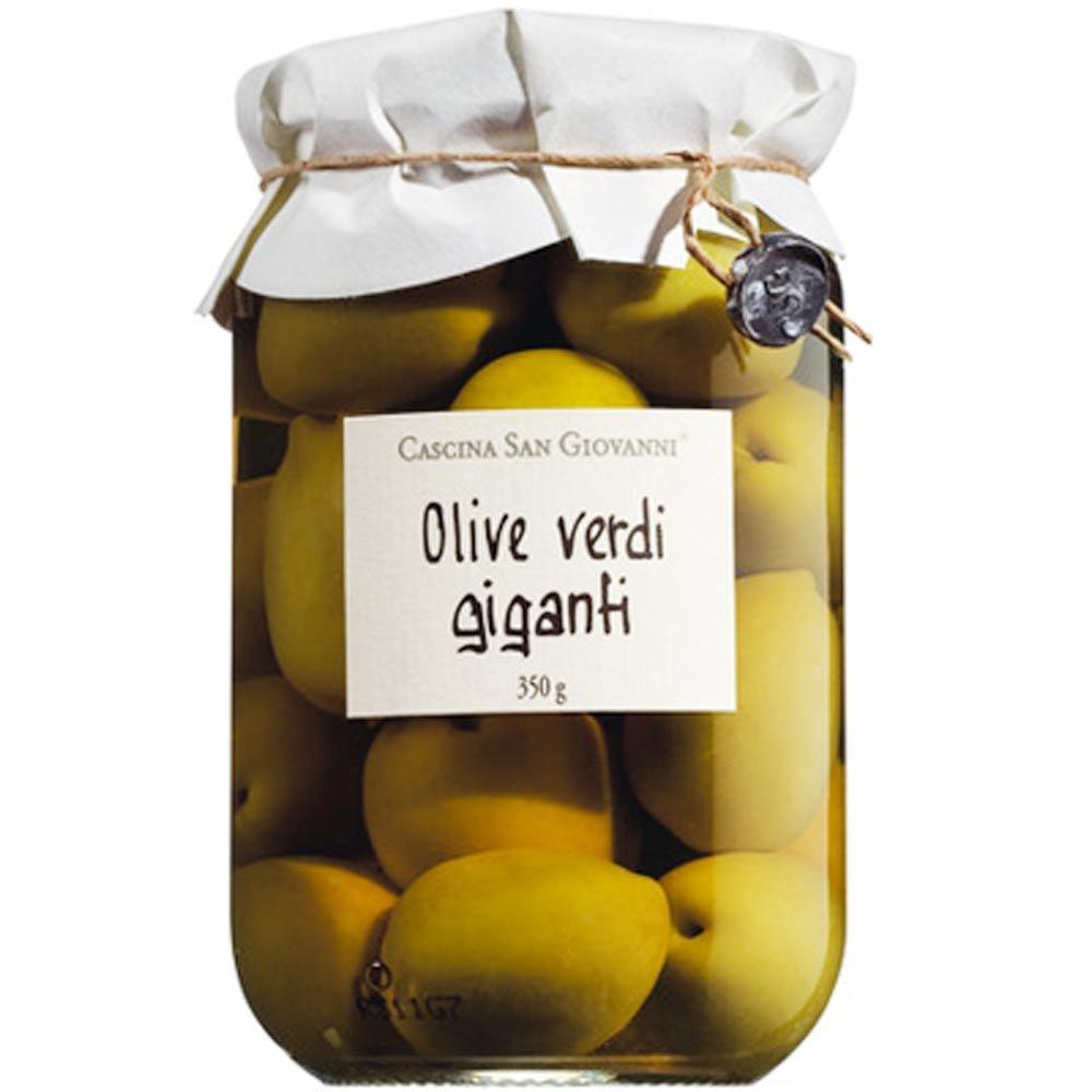 Gr�ne Riesen Oliven mit Stein Olive Verdi Giganti riesig Cascina San Giovanni