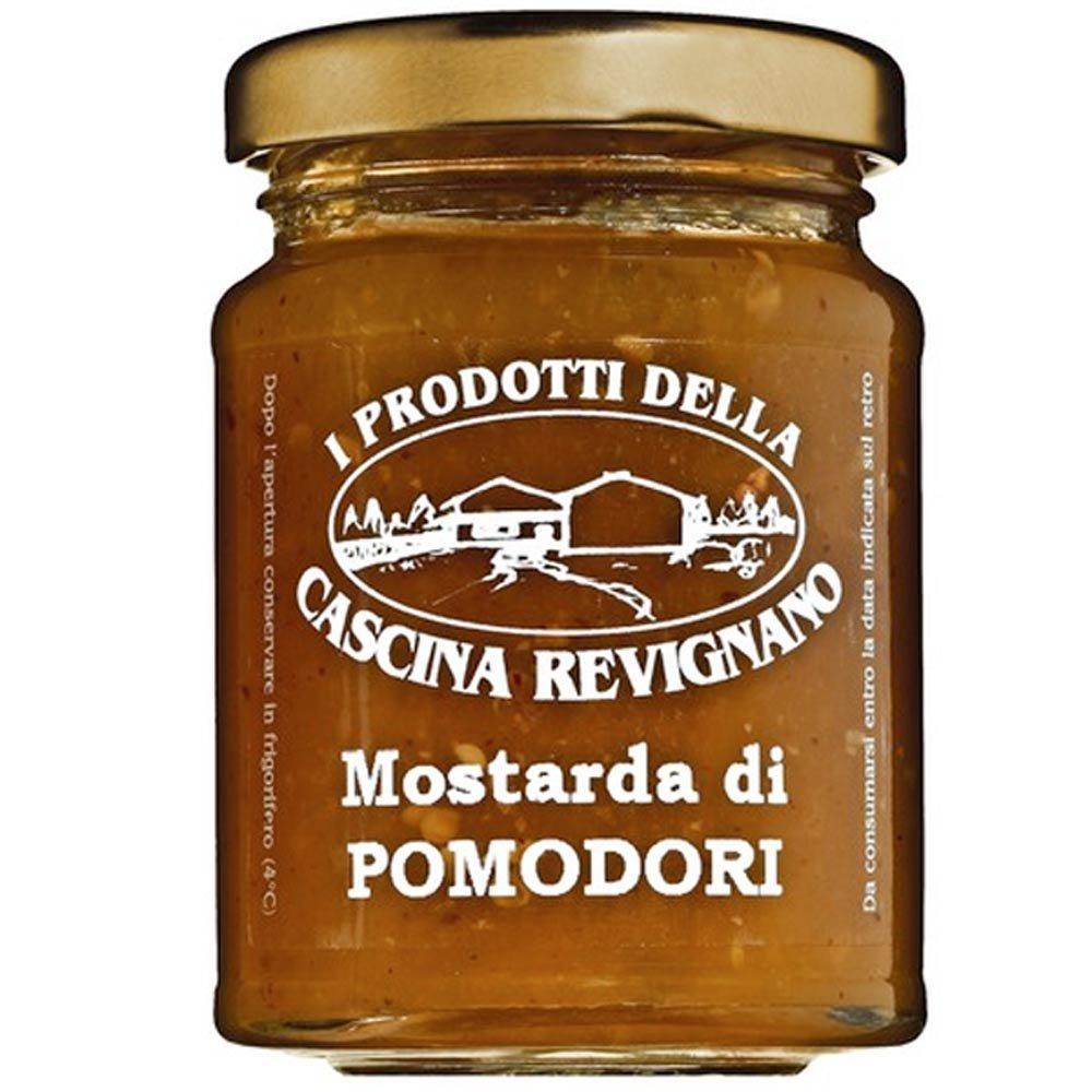 Grüne-Tomaten-Sauce für Käse Cascina Revignano Mostarda di pomodori verdi